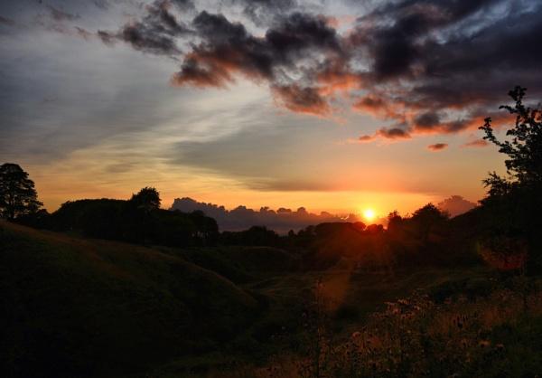 Peaks sunset. by uktruckie
