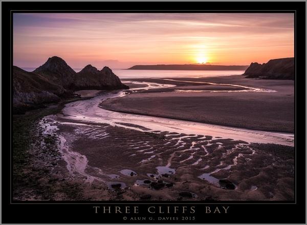Three Cliffs by Tynnwrlluniau