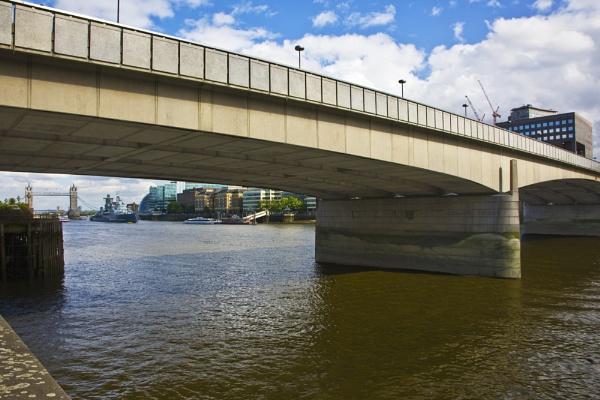 Tower Bridge and HMS Belfast from London Bridge by s1ngerman
