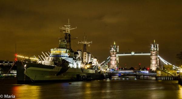 HMS Belfast by MariaElaine