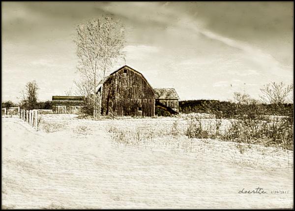 Winter Barn by doerthe