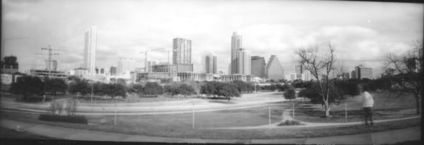 Austin Skyline pinhole by SpiffyTumbleweed