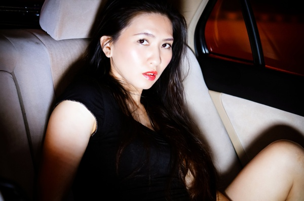 Chloe L. in the car by Garypkk
