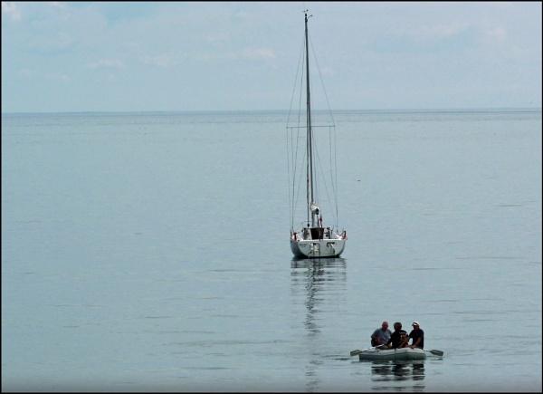 Three men in a boat by Art2105