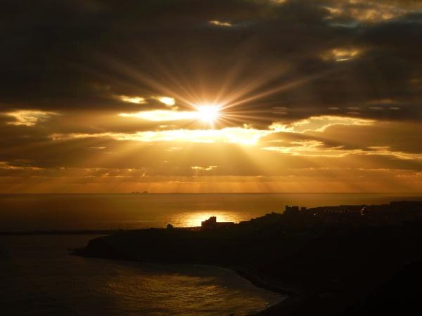 Folkestone sunset by nickyv32