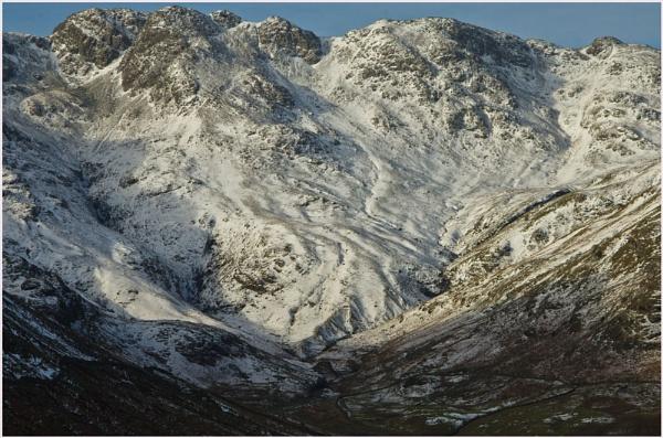 Snow in the Langdales. by myrab