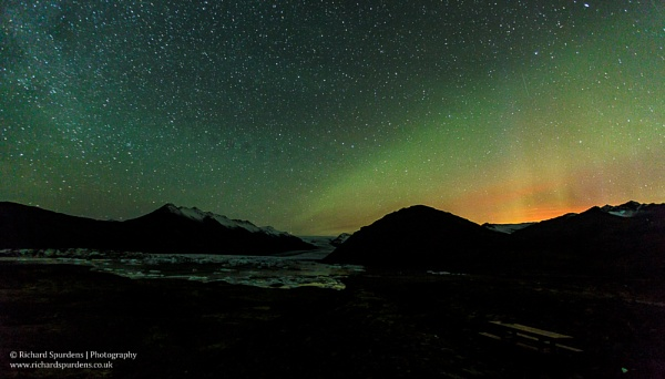 Night sky lights and the eruption glow by Richsr