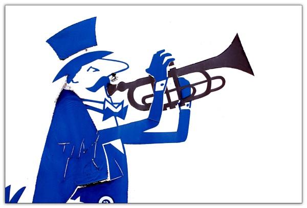 Ticklish Tim the Trumpet Player by helenlinda