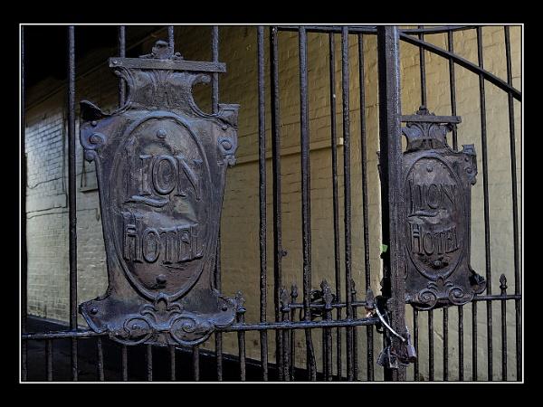 Lion Hotel Gates by jcolind