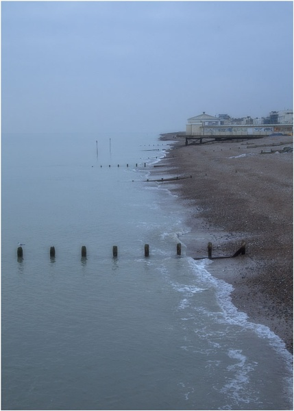 Worthing at Dusk by Lillian