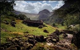 Eagle Crag from Stonethwaite.