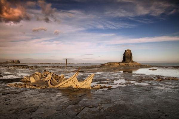 Whitby, Saltwick Bay, Black Nab by brianaskew