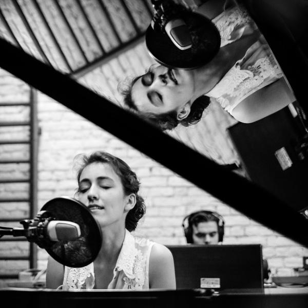 Recording Karen\'s song by Drummerdelight