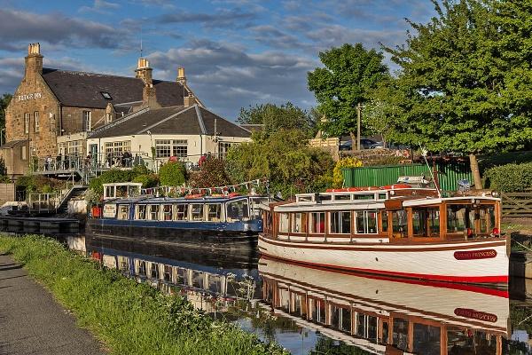 The Union Canal and Bridge Inn at Ratho near Edinburgh by johnsd