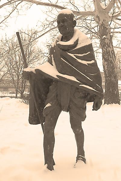 a Statue of Mahatma Gandhi by TimothyDMorton