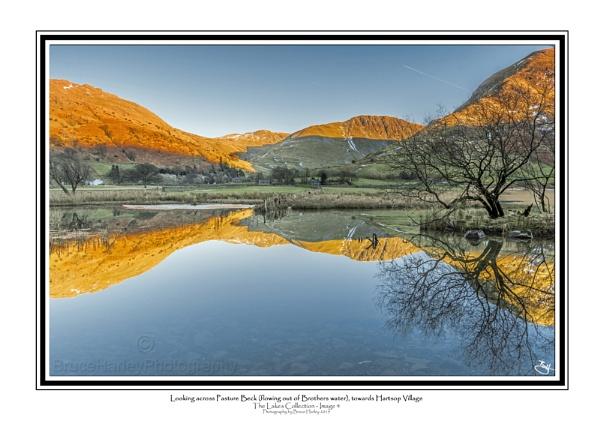 Looking across Pasture Beck (flowing from Brothers Water) to Hartsop Village. by MunroWalker