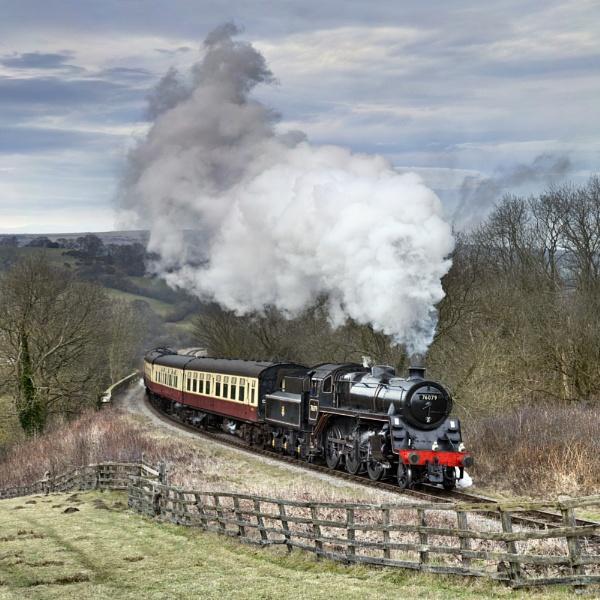 Steam Locomotive Ex BR 76079 Standard Class 4MT 2-6-0 by YorkshireSam