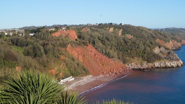 landslide !babbacombe devon. by 23865