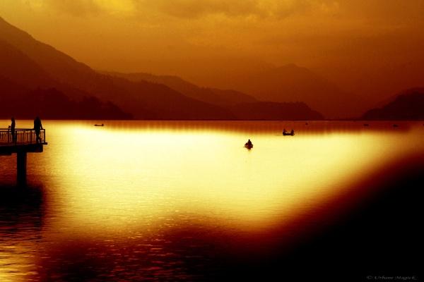 Lake Phewa, Pokhara, gateway to the Himalayas. by UrbaneMagick