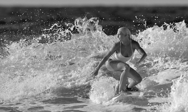 Surfer Girl - (Tatiana Weston Webb) B+W version... by steevo46