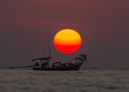 Sunset at Ko Phra Thong, Thailand