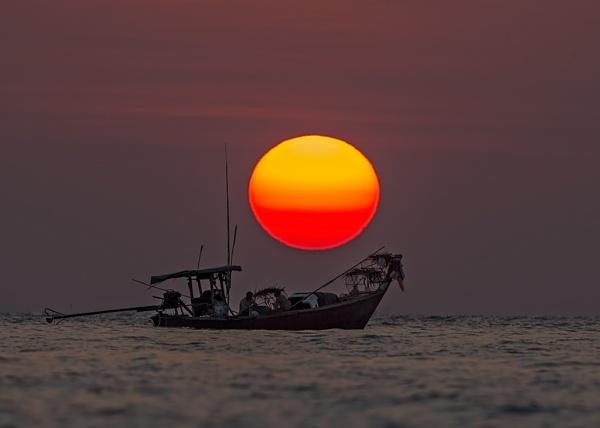 Sunset at Ko Phra Thong, Thailand by DaveWales