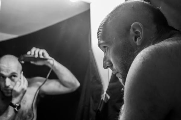 Man shaving by derrymaine