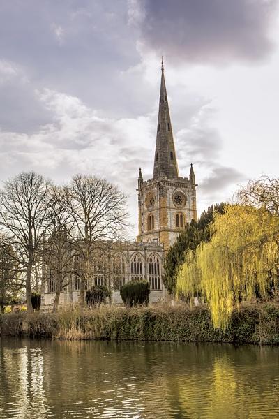 Church across the river by GordonLack