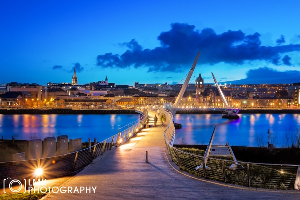 Peace Bridge @ Blue Hour by LMK_Photography
