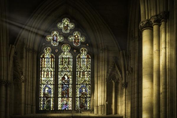 Sun Beams in York Minster by WeeGeordieLass