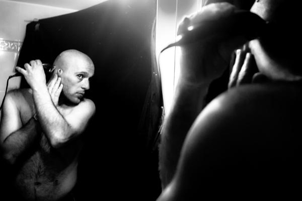 man shaving 2 by derrymaine