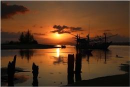 sunset at baan krod thailand
