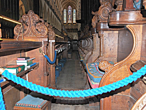 The view from the pew in Salisbury cathedral. by brandish