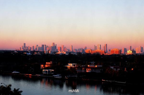 miAMi...daybreak over Miami FLA..Nov 2014 by mathed