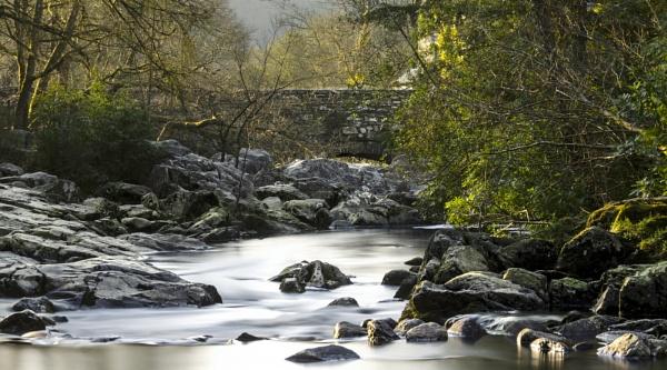 Afon Llugwy at Pont-y-Pair bridge by lespaul