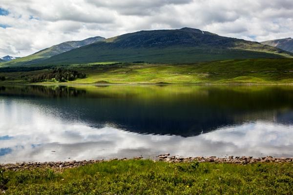 Loch in Scotland by Akif