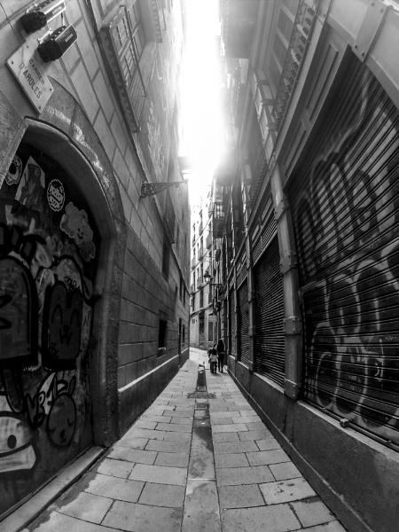 Barcelona back street by Nobbythenobster2