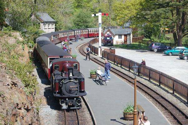Ffestiniog Railway at Tan-y-Bwlch by cegidfa