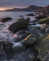 Sunset at Pier Bottom, Dorset