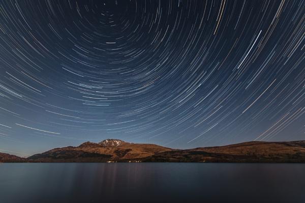 Startrails over Ben Lomond by JohnnyGraham