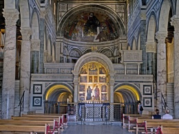 The church of Santa Maria al Monte, Florence.