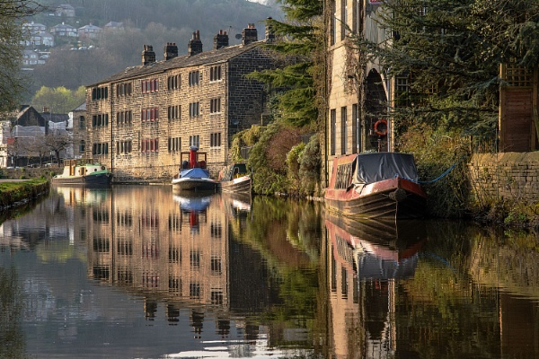 Evening Light on the Rochdale Canal by ColouredImages
