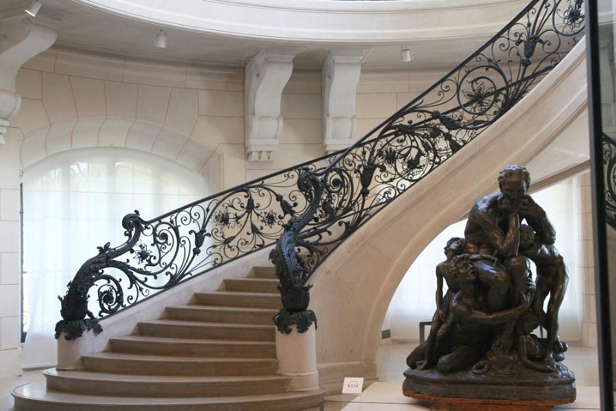 Art Nouveau staircase in side Le site du Petit Palais created for The exhibition 'Paris 1900'