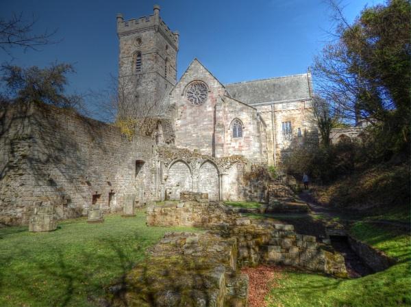 Culross with Ronnie. The Abbey ruins by digital_boi
