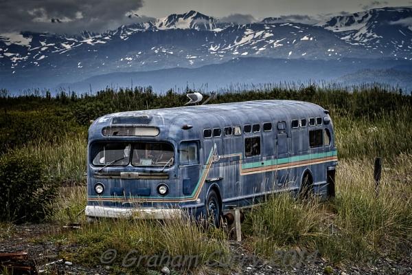 Abandoned Bus - Homer Spit, Alaska. by JGCurry