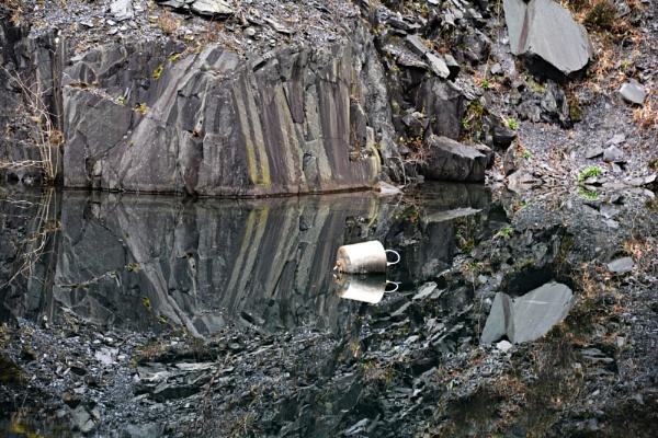 Llanberis Quarry Reflection by gwynn56