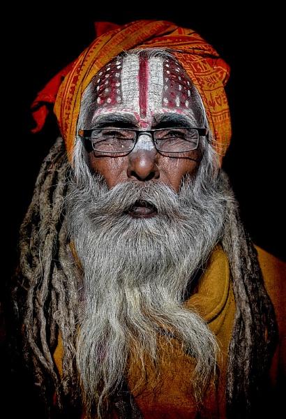 sadhu of Pashuptinath Kathmandu Nepal by sawsengee