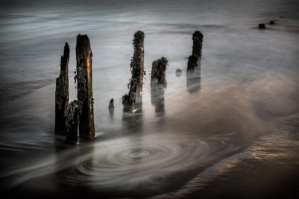 Groynes, Morning Light by jasinclair