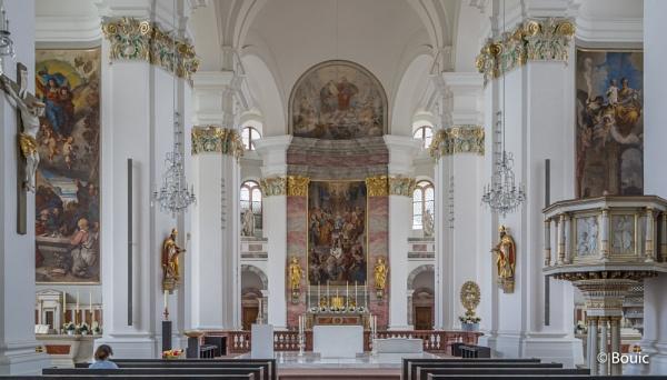 Altar & Pulpit Jesuit Church Heidelberg by bouic