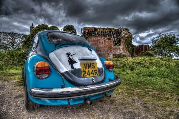 Banksy Beetle :) by jonkennard